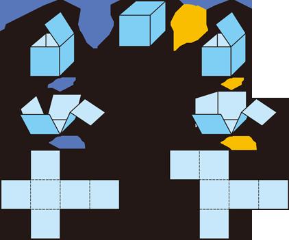 見取図と展開図|算数用語集 : 図形 算数 : 算数