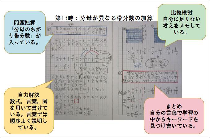 思考過程が表れるノート指導の ... : 五年の算数 : 算数
